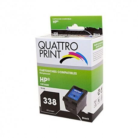 Cartouche d'encre Quattro Print compatible HP 338