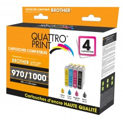Pack 4 cartouches Quattro Print compatible Brother LC-970 / LC-1000