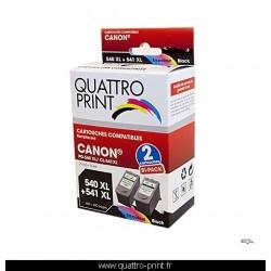Pack 2 cartouches d'encre compatible Canon PG-540 XL / CL-541 XL